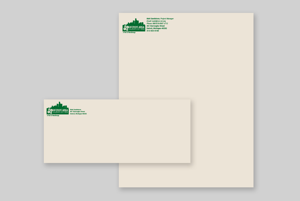 Detroit Area Clean Cities Letterhead