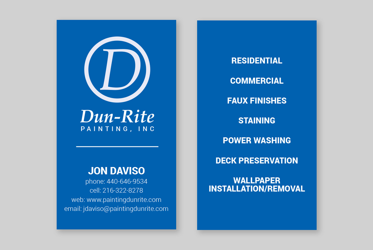 Dun-Rite Painting Business Cards