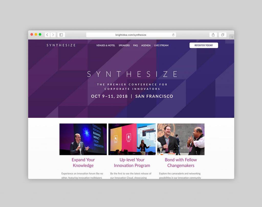 Synthesize Conference Website Homepage