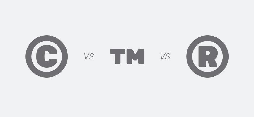 copyright, trademark, and registered trademark